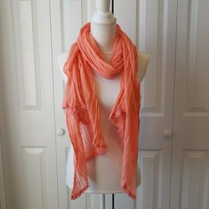 Aerie coral scarf